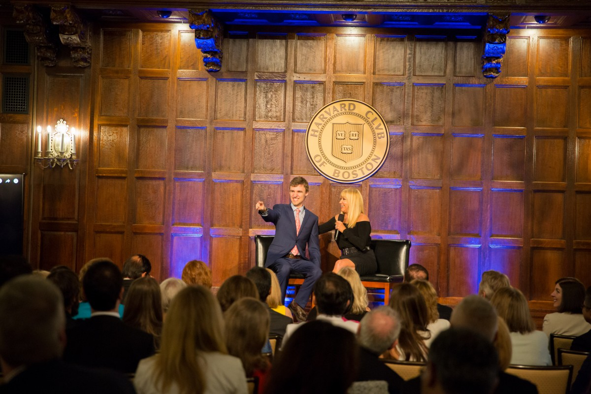 Alexander Velitchko with Suzanne Somers at the Harvard Club of Boston