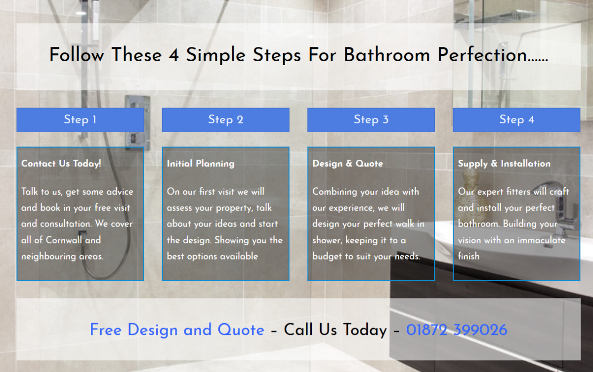 walk in shower company cornwall - 4 steps.PNG