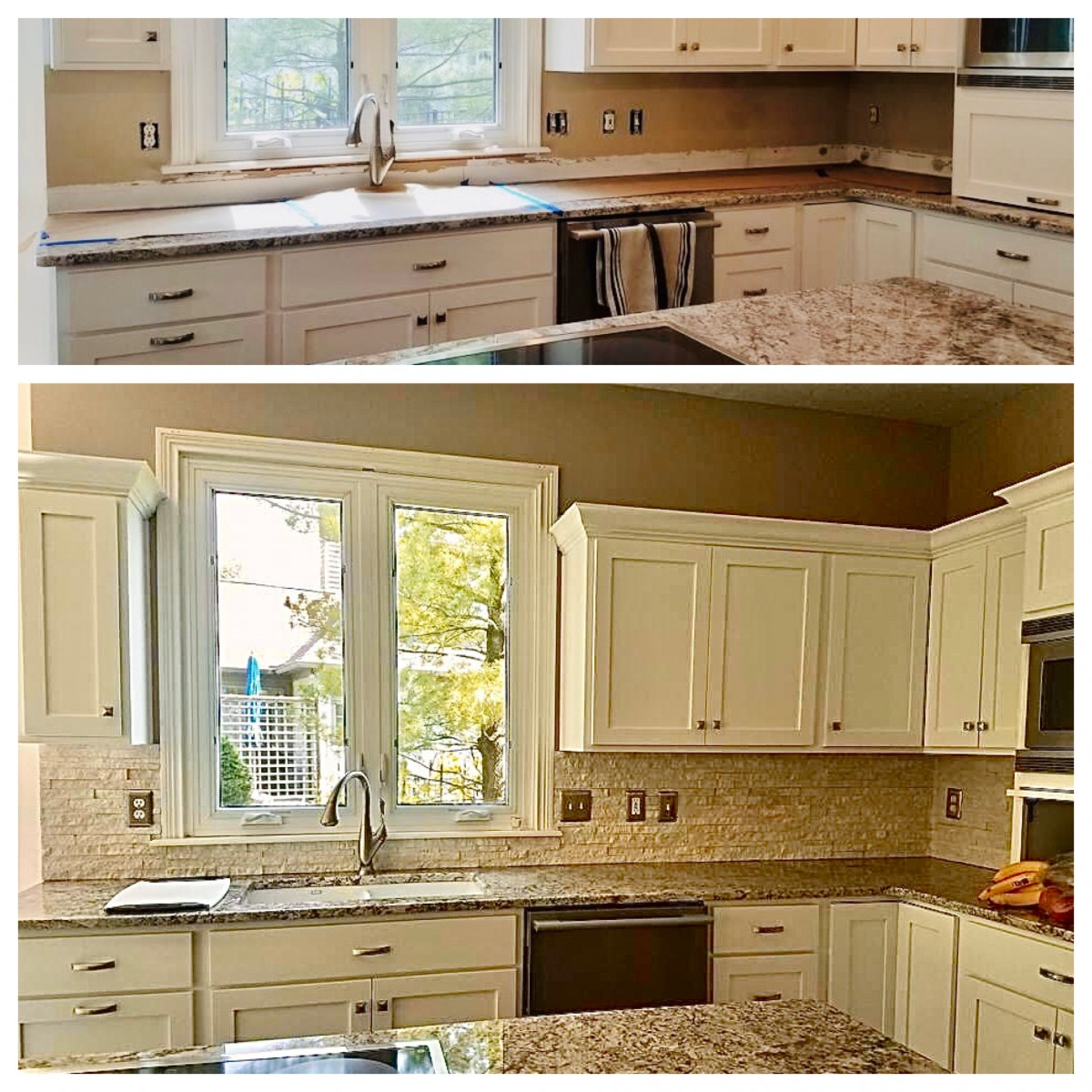 before after kitchen refresh