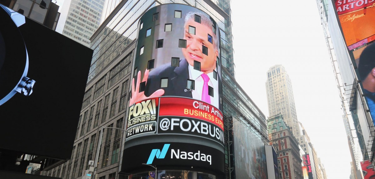 Clint Arthur on Nasdaq Jumbotron-.jpg