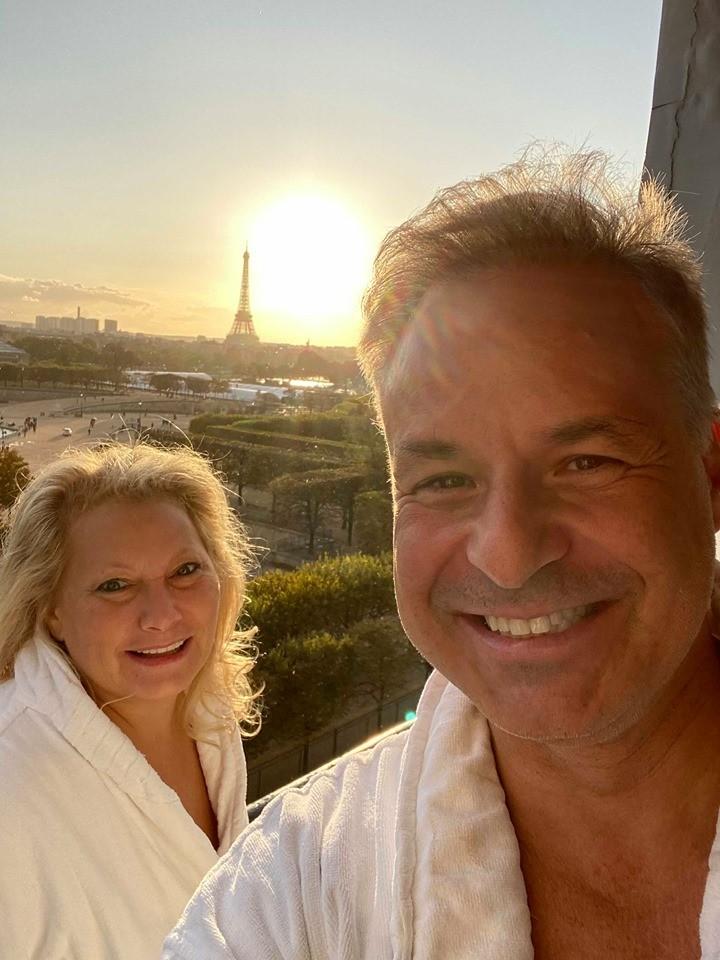 Ali Savitch and Clint Arthur at the Westin Vendome Paris Royal Suite