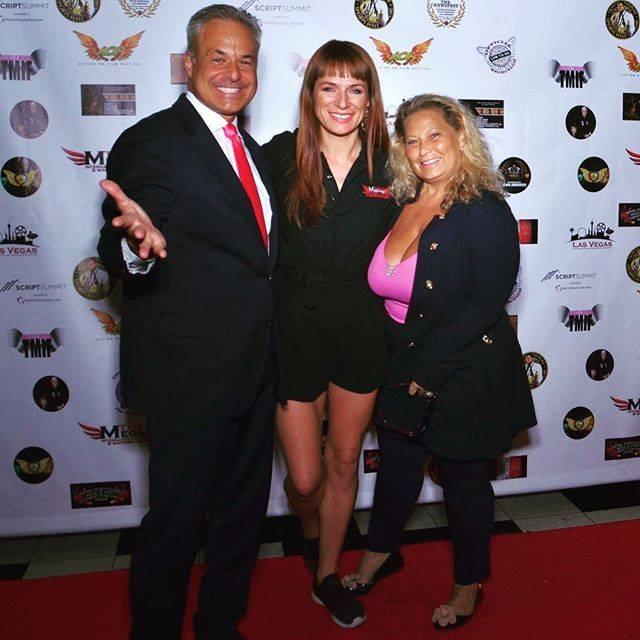 "Clint Arthur, Anabelle Munro and Alison Savitch at Las Vegas Hollywood Dreamz International Film Festival, where ""Celebrity Entrepreneur"" had its 2nd screening"